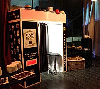 soirée prohibition années folles photomaton cabine photo black and white