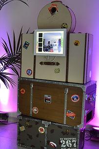 mariage theme voyage photobooth