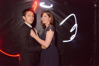 Light painting pour mariage photocall
