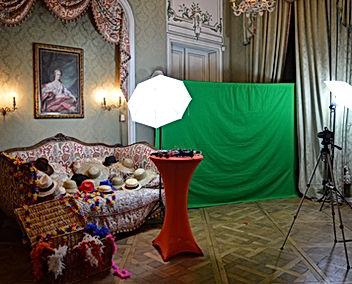 stand fon vert mariage animation photos