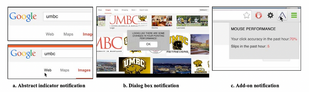 an image showing 3 notification designs