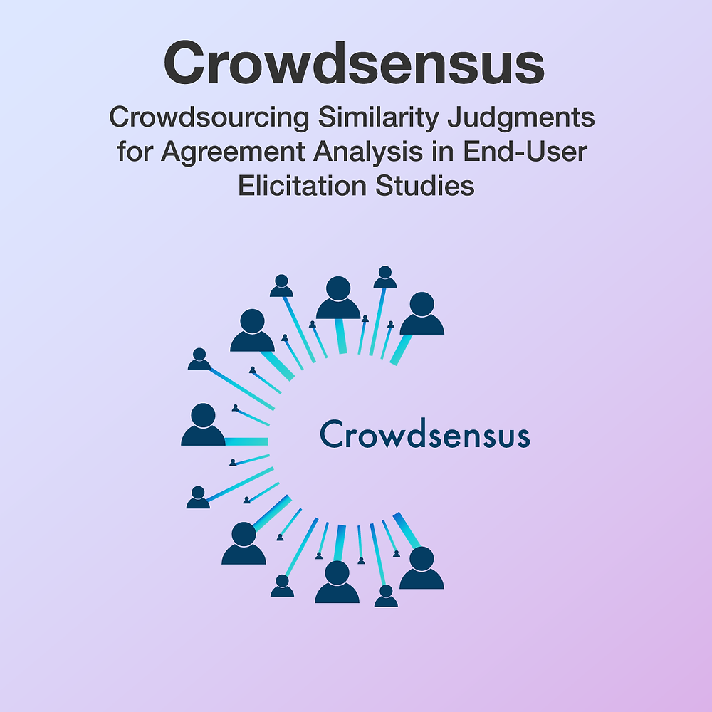 Crowdsensus logo, the letter C made out of a number of avatars converging