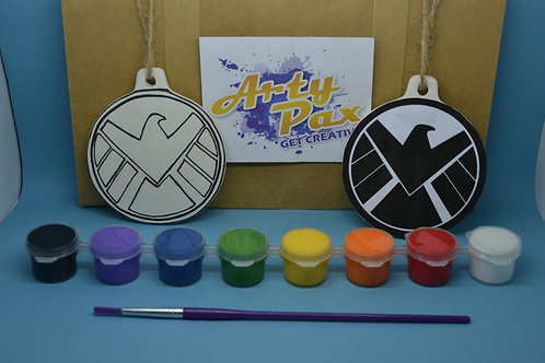 Paint Your Own Superhero Agents Of Shield Decoration Kit