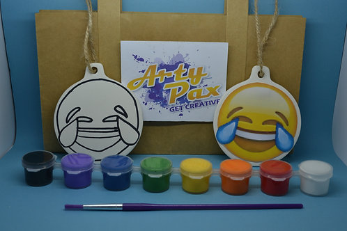 Paint Your Own Laughing Tears Emoji Kit
