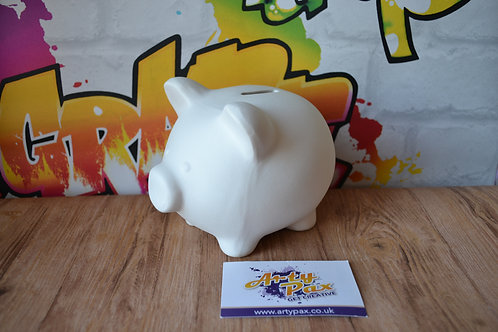 Ready To Paint Piggy Money Bank Ceramic 3D Freestanding With Stopper
