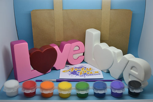 Paint Your Own Love Word Kit