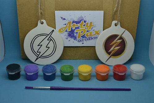 Paint Your Own Superhero Flash Icon Kit