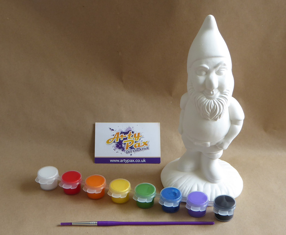paint your own ceramic gnome figure kit