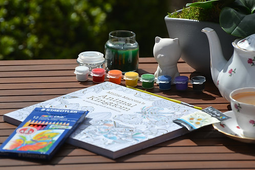 Relaxation Adult Colouring and Paint Your Own Kit