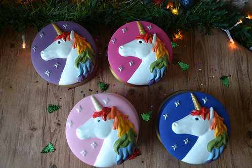 Hand Painted Rainbow Unicorn Ceramic Jewellery Trinket Box