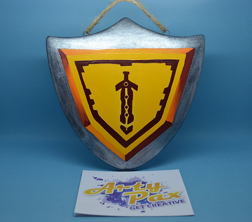 Ready To Paint Knights Shield Ceramic Wall Decoration