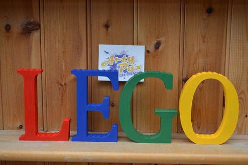 Personalised Lego Wooden Letters