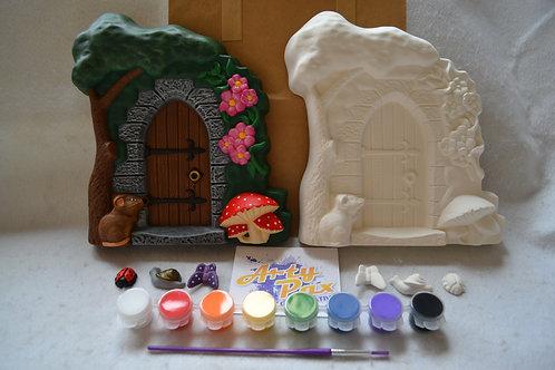 Paint Your Own Fairy Door Wall Plaque Kit