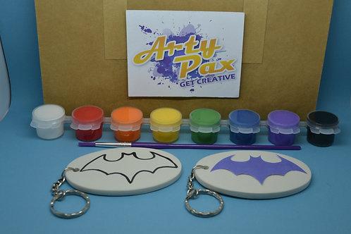 Paint Your Own Superhero Bat Girl Keyring Kit