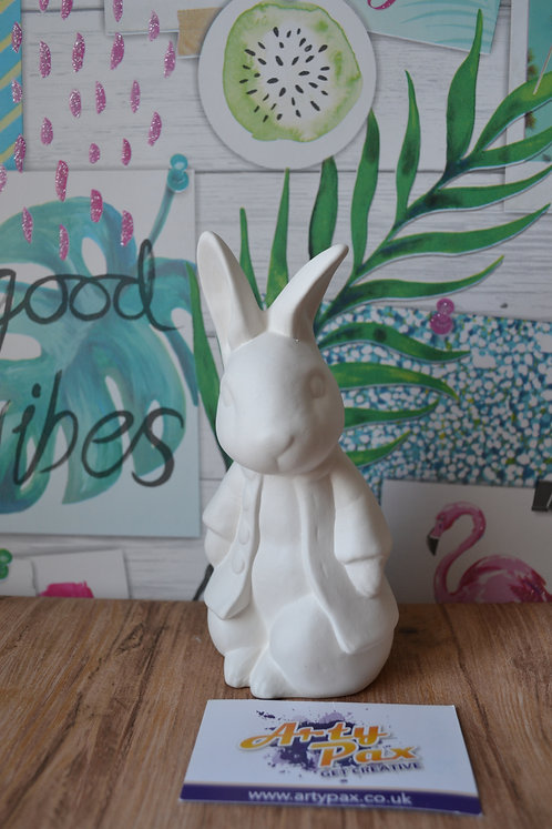 Ready To Paint Peter Rabbit Ceramic 3D Figure