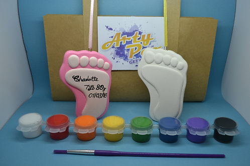 Paint Your Own Baby Footprint Decoration Kit