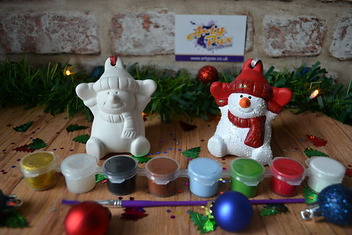 Paint Your Own Snowman 3d Bauble Kit