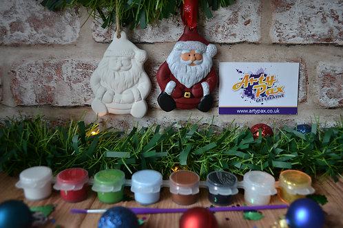 Paint Your Own Santa 2D Ceramic Bauble Kit