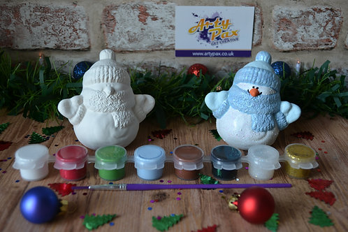 Paint Your Own Bobble Hat Snowman Kit