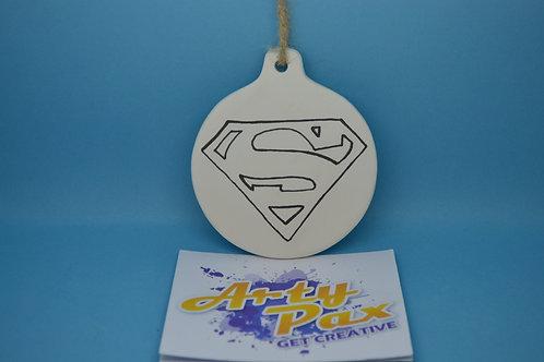 Ready To Paint Superhero Ceramic Wall Decoration