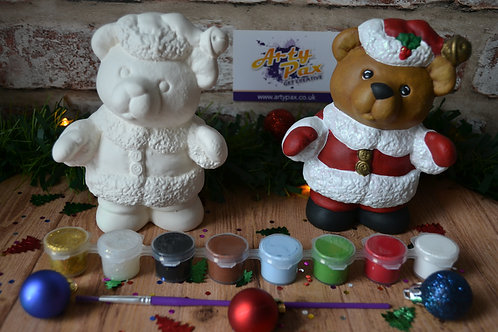 Paint Your Own Santa 'Paws' Bear Figure Kit