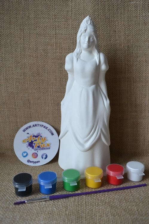 Paint Your Own Princess Ceramic Figure Kit