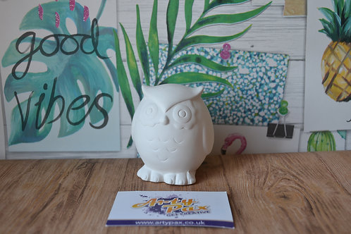 Ready To Paint Owl Ceramic 3D Woodland Animal