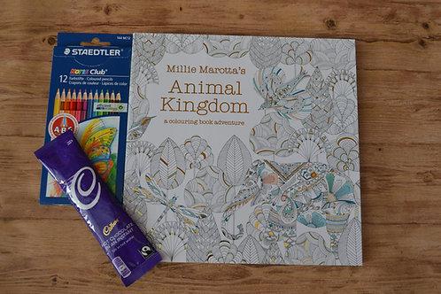 Millie Marotta Animal Kingdom Adult Colouring Kit