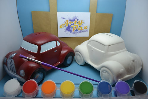 Paint Your Own Car Money Bank Kit