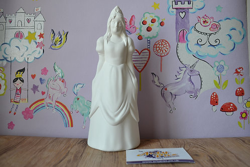 Ready To Paint Princess Ceramic 3D Freestanding Figure