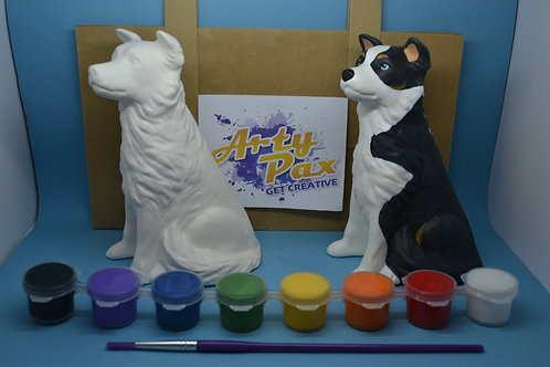 Paint Your Own Collie Dog Kit