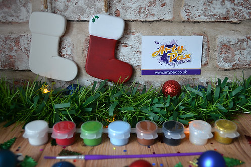 Paint Your Own Christmas Stocking 2D Bauble Kit
