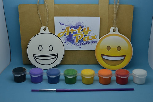 Paint Your Own Smiling Laughing Emoji Kit