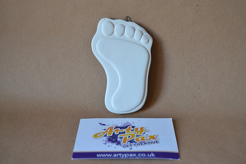 Ready To Paint Footprint Ceramic Hanging Decoration