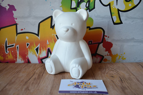 Ready To Paint Teddy Money Bank Ceramic 3D Freestanding With Stopper