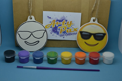 Paint Your Own Sunglasses Cool Face Emoji Kit