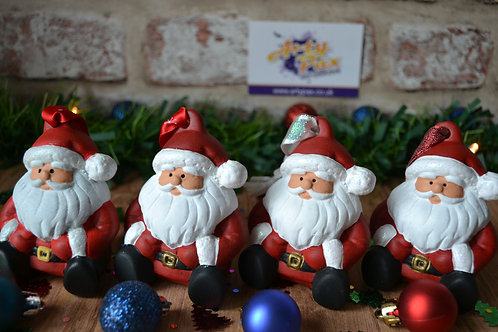 Hand Painted Christmas Santa Bauble 3D Ceramic Christmas Tree Decoration