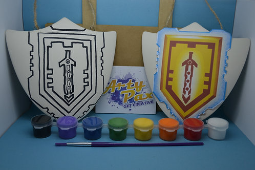 Paint Your Own Lego Nexo Knights Shield Kit