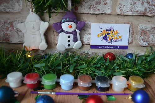 Paint Your Own Snowman 2D Bauble Kit