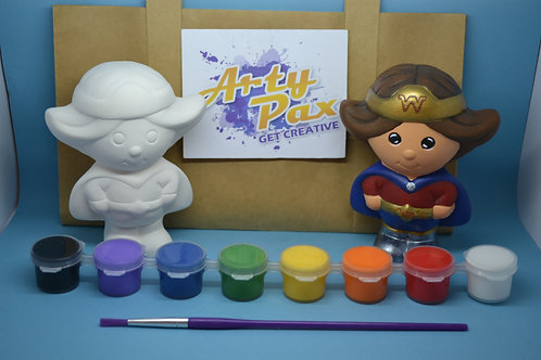 Paint Your Own Wonder Superhero Woman Figure Kit