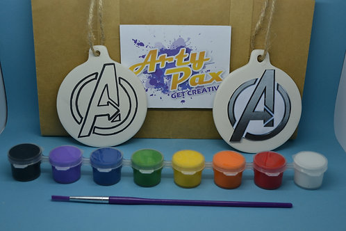 Paint Your Own Superhero Avengers Decoration Kit