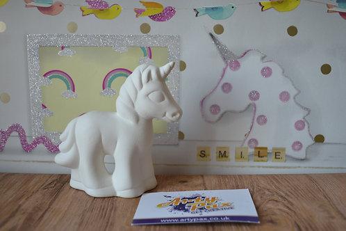 Ready To Paint Ceramic Unicorn 3D Figure