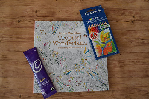 Millie Marotta Tropical Wonderland Adult Colouring Kit