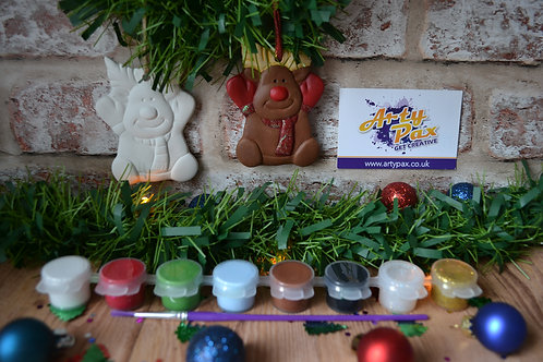 Paint Your Own Christmas Reindeer 2D Bauble Kit