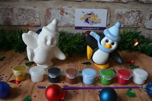 Paint Your Own Bobble Hat Penguin Kit