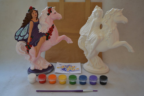 Paint Your Own Fairy On A Unicorn Kit