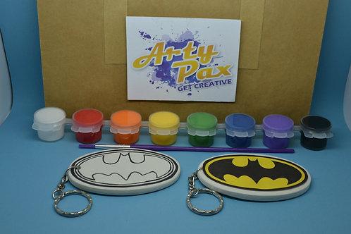Paint Your Own Superhero Bat Man Keyring Kit