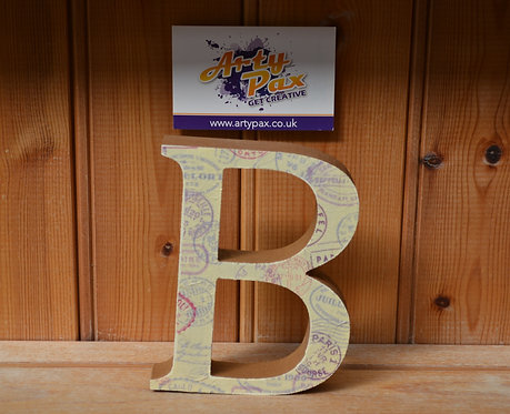 Personalised Travel Stamp Wooden Letters