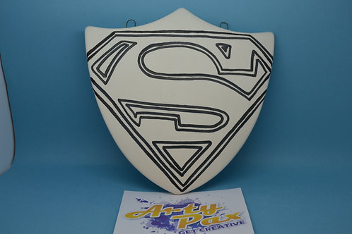 Ready To Paint Superhero Shield Ceramic Wall Decoration
