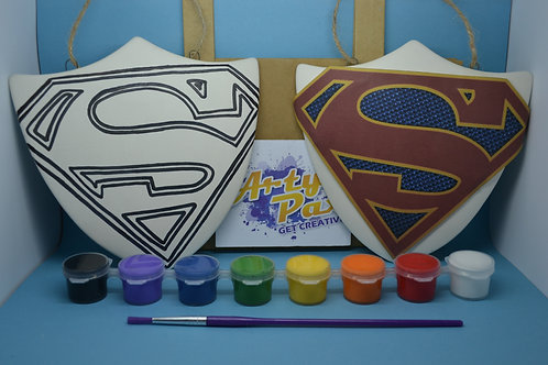 Paint Your Own Superhero Super Shield Kit